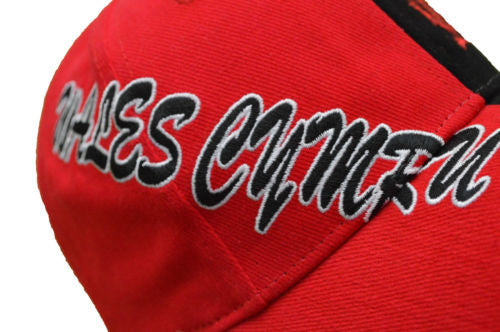 Welsh Dragon - Black'n'Red Contrast Baseball Cap