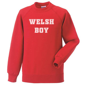Welsh Boy - Kids College Sweatshirt
