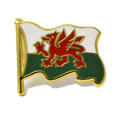 Welsh Flag Pin Badge