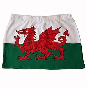 Ladies Welsh Flag Beach Skirt