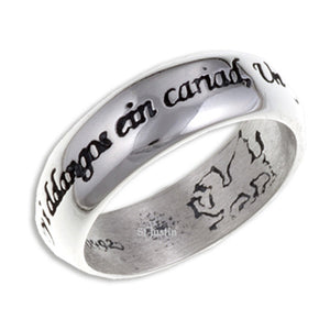 Welsh Love Ring / Modrwy Cariad - Sterling Silver (SR923)