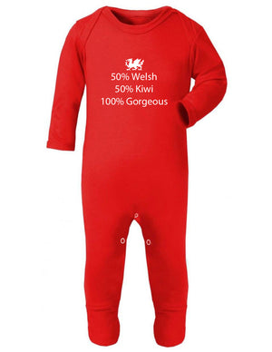 50% Welsh - 50% Kiwi - 100% Gorgeous Sleep Suit