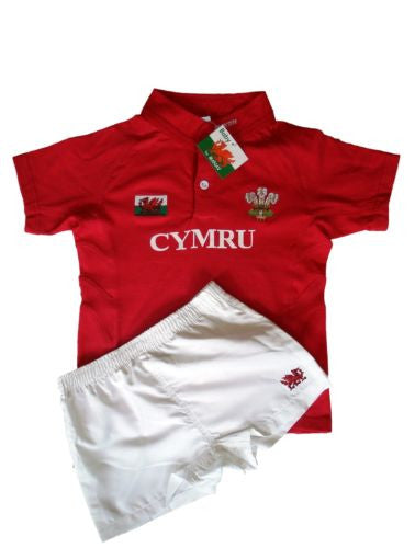 Welsh Baby & Child Rugby Kit (Two Piece)