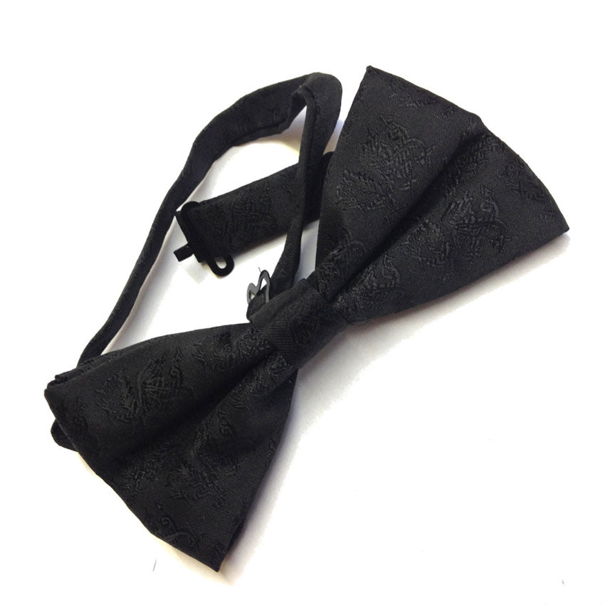 Welsh Dragon - Black Dress Bow Tie