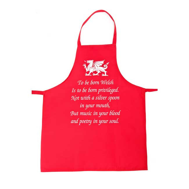 To be Born Welsh Poem - Wales Apron
