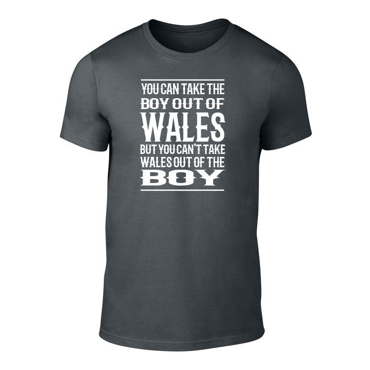Take the Boy out of Wales - Tee (Charcoal)