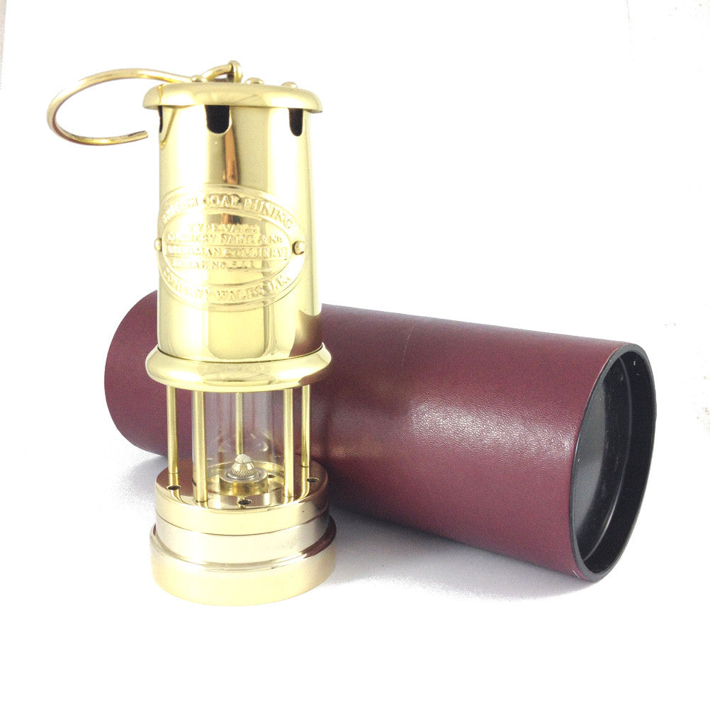 Brass Welsh Miners Lamp (Large)