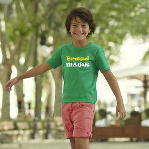 Children's Brawd Mawr (Big Brother) - Welsh T-Shirt - Green