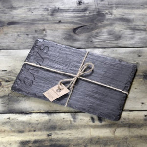 WELSH SLATE CHEESE BOARD - DEEP CAWS (RECT)
