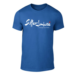 Suffer Junkie® CHALLENGE YOUR LIMITS - TEE blue