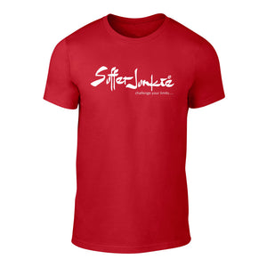 Suffer Junkie® CHALLENGE YOUR LIMITS - TEE red