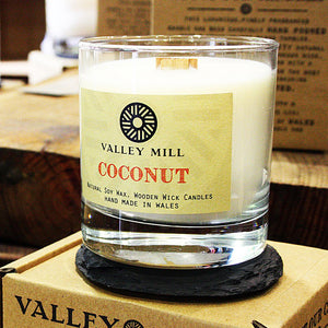 COCONUT SOY - WOODEN WICK CANDLE
