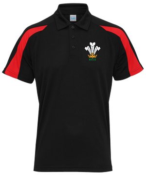 Welsh Polo Shirt - Cool Dry BLACK