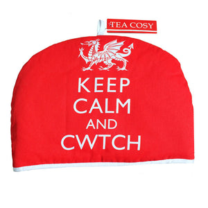 keep calm and cwtch tea cosy
