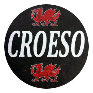 Croeso/ Welcome - Welsh Slate Coaster