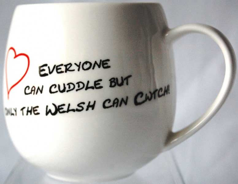 Cwtch and Cuddle Welsh Mug
