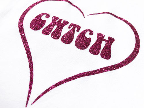 Cwtch Glitter Heart - Welsh Baby Grow WHITE