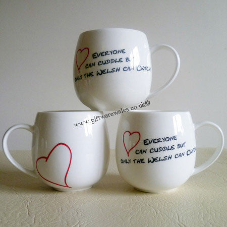 Welsh Mug - Cwtch and Cuddle Bone China Mug