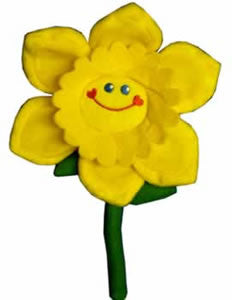 Comical Daffodil Cloth Badge
