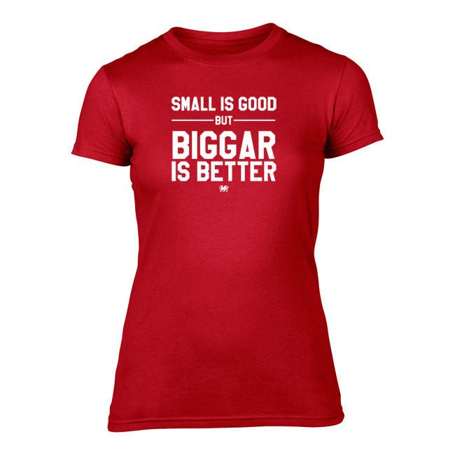 'Biggar' is Better - Ladies Welsh T-Shirt (Red)