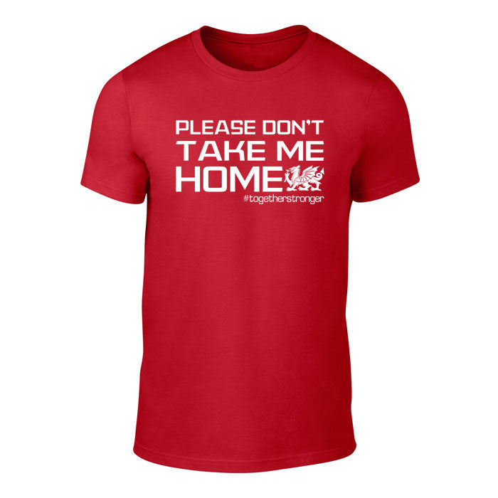 Please Don't take me Home - Wales Football T-Shirt