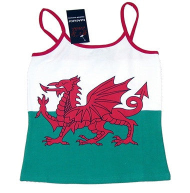 Women's Welsh Flag Camisole - FRONT