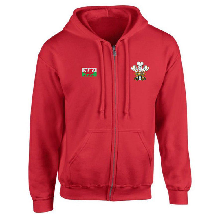 Traditional Welsh Feathers Full Zip Hoodie Jacket