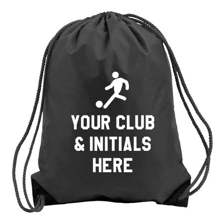 Football Logo- Personalised Duffel Bag - BLACK