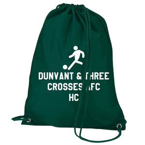 Football Logo- Personalised Duffel Bag - GREEN