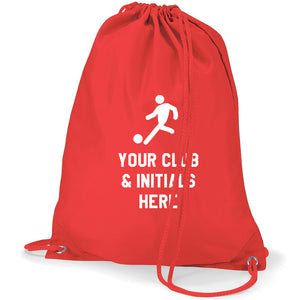 Football Logo- Personalised Duffel Bag - RED