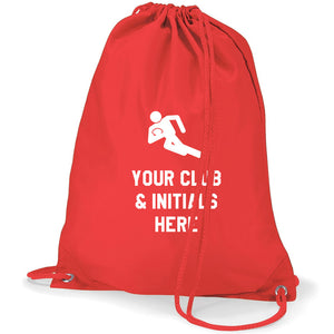 Rugby Logo- Personalised Duffel Bag RED