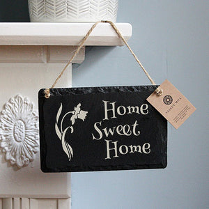 WELSH SLATE 'HOME SWEET HOME' SIGN