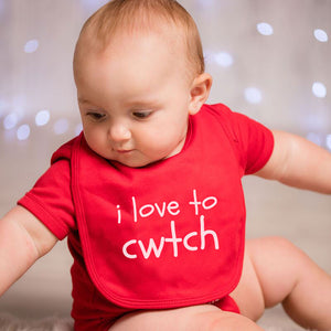 I Love to Cwtch - Welsh Baby Bib