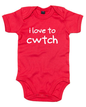 I Love to Cwtch - Welsh Baby Grow (Red)