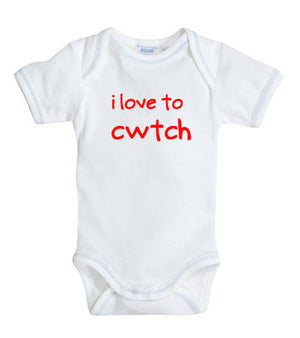 I Love to Cwtch - Welsh Baby Grow (White)