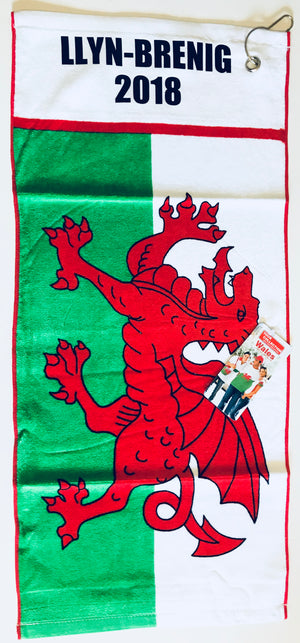 Personalised Welsh Flag Golf Towel