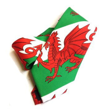 Mens Welsh Flag Tie