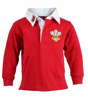 SPECIAL OFFER! - Junior Baby - Retro Welsh Rugby Shirt