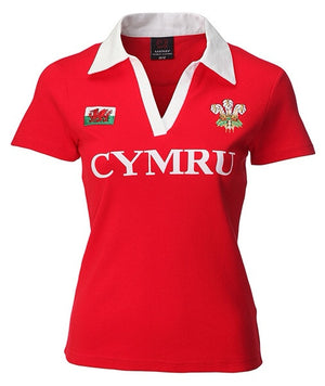 Women's Full Collar Wales Rugby Jersey