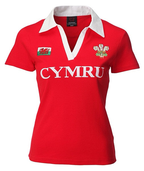 f550c697d90 Women's - Fashion Fit Wales Rugby Jersey - Giftware Wales