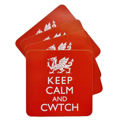 keep calm and cwtch coaster