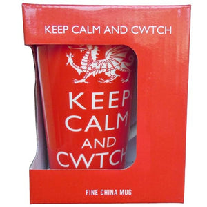 Keep Calm and Cwtch - Flute Mug Boxed