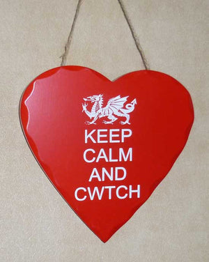 Keep Calm and Cwtch - Wooden Welsh Sign