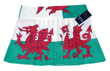 Ladies Welsh Flag Kilt Skirt