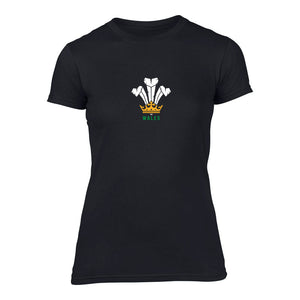 Modern Welsh Feathers - Women's T-Shirt BLACK