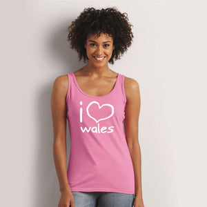 I love Wales - Womens Vest Top (Pink)