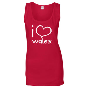I love Wales - Womens Vest Top (Red)