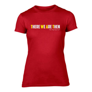 There We Are Then! - Welsh (Ladies) Banter T-Shirt (Red)