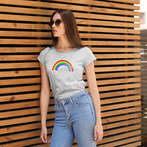 Cwtch Rainbow Ladies T-Shirt GREY