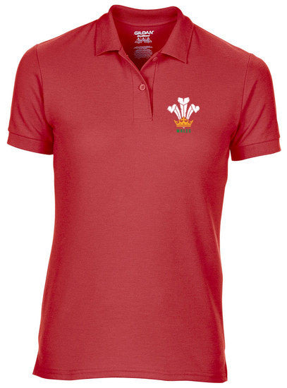 Modern Welsh Feathers - Women's Fashion Polo Shirt RED
